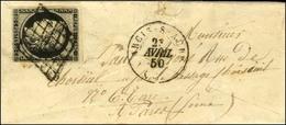Grille / N° 3 Noir Sur Blanc Càd T 15 ARCY-S-AUBE (9). 1850. - TB. - 1849-1850 Ceres