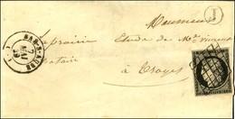 Grille / N° 3 Noir Sur Blanc Càd T 15 BAR-S-AUBE (9) B. RUR. J (sans Texte). 1849. - TB / SUP. - 1849-1850 Ceres