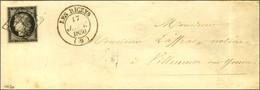 Grille / N° 3 Noir Sur Blanc Càd T 14 LES RICEYS (9). 1850. - SUP. - 1849-1850 Ceres