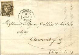 Grille / N° 3 Gris (très Belle Nuance) Càd T 14 ANTIBES (78). 1849. - TB / SUP. - R. - 1849-1850 Ceres