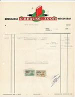 Factuur Dd. 06-05-1959 : Drukkerij O.Bracke & Zoon, Zele  → Rode Kruis Zele (ref. 7) - 1950 - ...