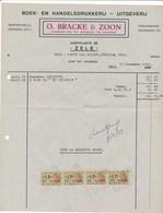 Factuur Dd. 31-12-1952 : Drukkerij O.Bracke & Zoon, Zele  → Rode Kruis Zele (ref. 9) - 1950 - ...