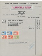 Factuur Dd. 29-04-1948 : Drukkerij O.Bracke & Zoon, Zele  → Rode Kruis Zele (ref. 10) - 1950 - ...
