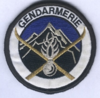 Insigne De Bras Du Peloton De Gendarmerie De Haute Montagne - Policia