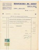 """Factuur Dd. 28-05-1949 : Drukkerij De Geest - Weekblad """"Gazet Van Zele""""  → Rode Kruis Zele (ref. 15) - 1950 - ..."""