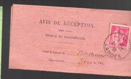 Tilh (40 Landes) Oblitération 1938 Sur YT 369 Seul Sur Lettre  (PPP17014) - Postmark Collection (Covers)