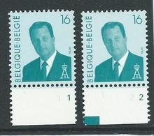 België Nr 2535 GE  Albert II - Numéros De Planches
