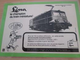 Page De Revue Des Années 70/80 / PUBLICITE TRAINS ELECTRIQUES LIMA  , Format 1/2  Page A4 - HO Scale