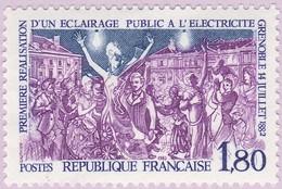 N° Yvert & Tellier 2224 - Timbre De France (Année 1982) - MNH - 1ère Réalisation Éclairage Public Electrique (Grenoble) - Francia