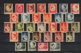 1946 - Roi Michel I  Papier Gris Mi No 932y / 970y MNH - Neufs