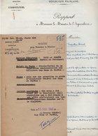 VP14.413 - PARIS 1948 - Rapport à Mr Le Ministre De L'Agriculture Concernant L'avancement Des Officiers Forestiers - Documenti Storici