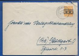 Enveloppe   Affranchi à 25 Pfennig   Deutche Poste   Timbre De 1946 Des Zones A.A.S  Oblitération: BEELEN 24.7.1946 - Zone AAS
