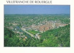 12 Villefranche De Rouergue Vue Générale (2 Scans) - Villefranche De Rouergue