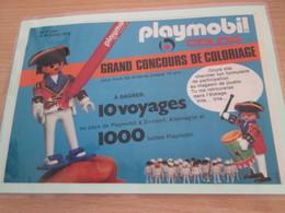 Page De Revue Des Années 60/70 : PUBLICITE PLAYMOBIL , Dimension Page  A5 Plastifiée Par Mes Soins - Playmobil