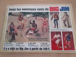 BIG JIM  !!!  Pour  Collectionneurs ... PUBLICITE  1/2 Page De Revue Des Années 70/80 Plastifiée Par Me - Andere Verzamelingen