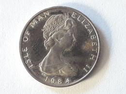 Silver Half Penny Isle Of Man 1984 - 1971-… : Monnaies Décimales