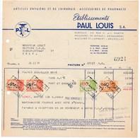 Factuur Dd. 11-07-1949 : Ets. Paul Louis, St-Lambrechts-Woluwe  → Rode Kruis Zele (Mr. Laget) - (ref. 23) - 1950 - ...