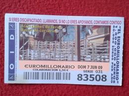SPAIN DÉCIMO CUPÓN DE OID LOTERÍA LOTTERY LOTERIE ATRACCIONES FERIA BARCO DE CORSARIOS CORSAIRS' SHIP VER FOTO Y DESCRIP - Billetes De Lotería