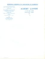 Factuur Facture - Entreprise De Couverture & Plomberie Albert Lannoy - Halluin - Artesanos