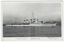 """TORPILLEUR """"BRESTOIS""""    -      Marius Bar Photo à Toulon - Guerre"""