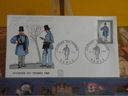 Journée Du Timbre 1968 - Paris - 16.3.1968 FDC 1er Jour N°631 - Coté 3,00€ - 1960-1969