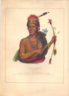 Prent Image - Native Indian - Indiaan - Pow A Sheek - Fox  Chief - Estampes & Gravures