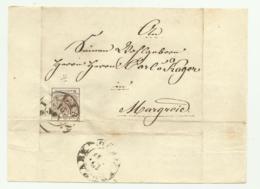 FRANCOBOLLO 6 KREUZER 1855 SU FRONTESPIZIO - Oblitérés