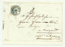FRANCOBOLLO 9 KREUZER KLAGENFURTH 1855  SU FRONTESPIZIO - Oblitérés