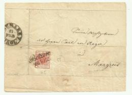 FRANCOBOLLO 3 KREUZER BOTZEN  1857  SU FRONTESPIZIO - Gebraucht