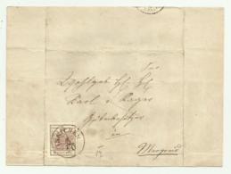 FRANCOBOLLO 6 KREUZER INNICHEN  1857  SU FRONTESPIZIO - Oblitérés