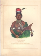 Prent Image - Native Indian - Indiaan - Ap Pa Noo Se - Saukie Chief - Estampes & Gravures