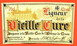 étiquette De Liqueur De La Vieille Cure De L'abbaye De Cenon - 43°/°- 70 Cl - Sonstige
