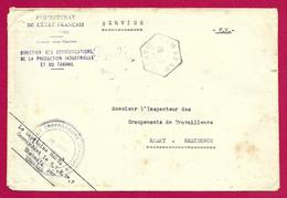 Enveloppe Avec Tampon Groupe De Travailleurs Étrangers - Expédiée De Tamanar à Destination De Rabat - Maroc (1891-1956)