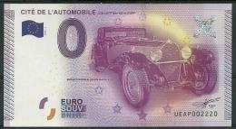 Billet Touristique 0 Euro 2015  Cité De L'automobile Mulhouse - EURO