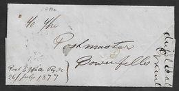 1877 - INTERNAL POST OFFICE COMMUNICATION - SIDNEY TO RYDE - TO POSTMASTER - MONEY ORDER ADVICE - Briefe U. Dokumente