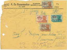 Factuur Dd. 21-10-1950 : Apotheek A.De Pannemaeker  → Dr. Gossey, Zele  - (ref. 29) - 1950 - ...