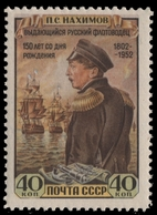 Russia / Sowjetunion 1952 - Mi-Nr. 1642 ** - MNH - Nachimow - 1923-1991 UdSSR