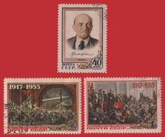 Russia / Sowjetunion 1955 - Mi-Nr. 1786-1788 Gest / Used - Lenin - 1923-1991 UdSSR