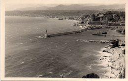 CPSM (carte Photo) Entrée Du Port De Nice (baie Des Anges) Vue Aérienne Photo Leonar Leigrano - Transport (sea) - Harbour