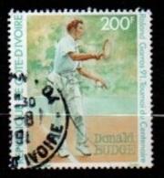 "COTE D'IVOIRE :-- Y&T (o) N° 857 :  "" Roland Garros 91 : Donald Budge "" - Ivoorkust (1960-...)"