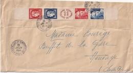 FRANCE 1949 LETTRE DE PARIS CENTENAIRE DU TIMBRE - 1921-1960: Modern Period
