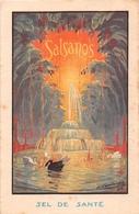 """¤¤   -    Carte Publicitaire Des Sel De Santé """" SALSANOS """"    -  ¤¤ - Publicité"""