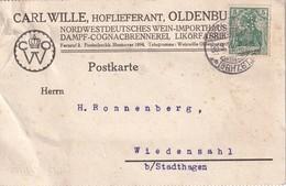 ALLEMAGNE 1916 CARTE DE OLDENBURG PERFORE/PERFIN - Allemagne