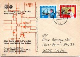 """(DDR-B1) DDR Sonderumschlag """"III.Kreisleistungsvergleich Der Philatelie"""", MiF Mi 1059,1061 TSt. 21.4.1981 BERLIN BPA - [6] Democratic Republic"""