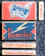 Ancienne Boîte De Lames De Rasoir, Razéclair 5 Lames - Lames De Rasoir