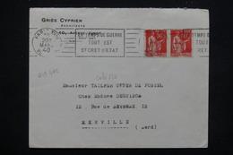 FRANCE - Enveloppe Commerciale De Paris Pour Merville En 1940 , Oblitération Mécanique De Propagande - L 22078 - Poststempel (Briefe)
