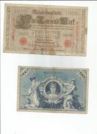 Billet De Banque Germany Allemagne 4 Billets 100.1000.20000 Marks - [ 2] 1871-1918 : Duitse Rijk