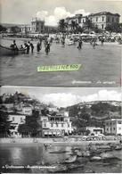 Marche-ascoli Piceno-grottammare La Spiaggia Scorcio Panoramico Anni 50 Animazione (nr°2 Cart.) - Altre Città
