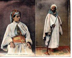 Algèrie : Scènes Et Types : Mauresque, Lot De 2 Cartes - Szenen
