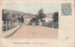 ***  21  ***  GISSEY SOUS FLAVIGNY  La Place Vue Du Pont TB - Francia